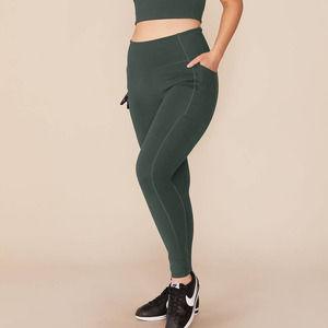 Girlfriend Collective green high waisted leggings